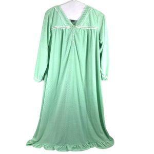 Laura Scott Womens3X Polka Dot Fleece Gown